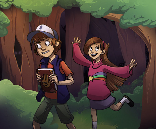 Gravity Falls achtergrond probably with anime entitled Dipper and Mabel
