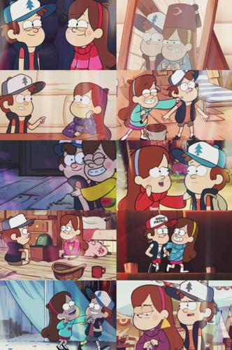 গ্র্যাভিটি ফল দেওয়ালপত্র entitled Dipper and Mabel
