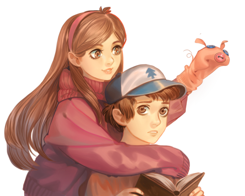 Gravity Falls پیپر وال called Dipper and Mabel