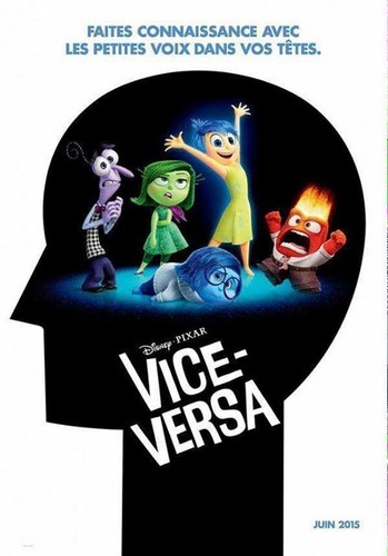 Inside Out achtergrond possibly containing a sign and anime titled Disney PIXAR Vice-Versa