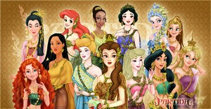 disney Princesses in Thai Costume