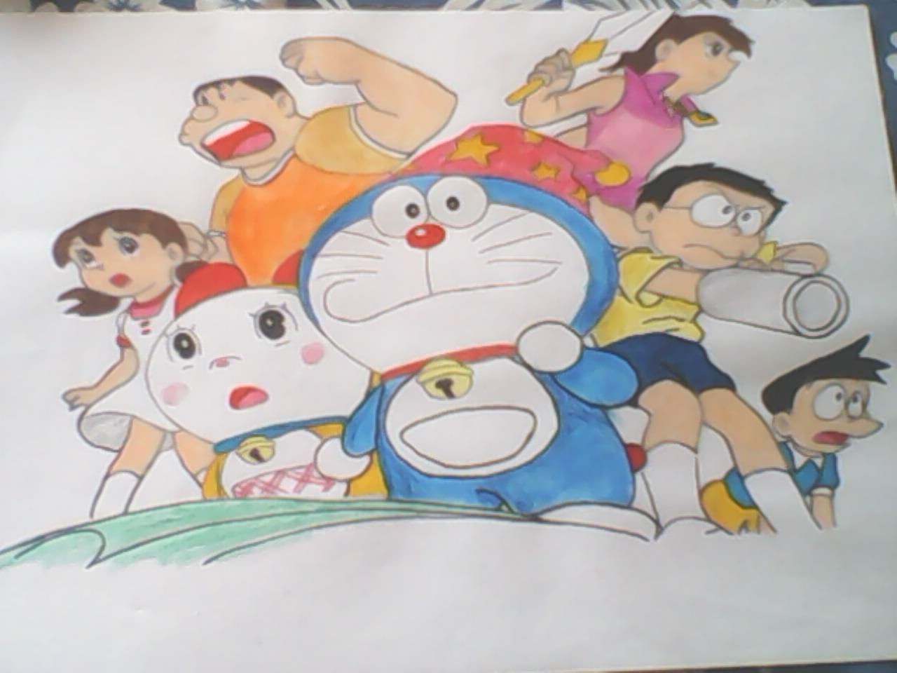 Doraemon-O Gato do Futuro drawing