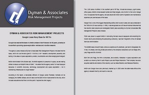 Dyman Associates Risk Management Projects: Google Lease Navy Base for 60 Yrs