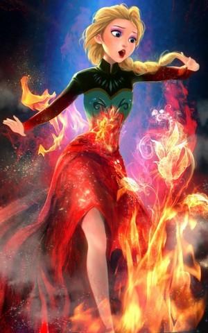 Elsa on ngọn lửa, chữa cháy