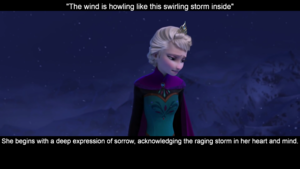 Elsa's face expressions during let it go