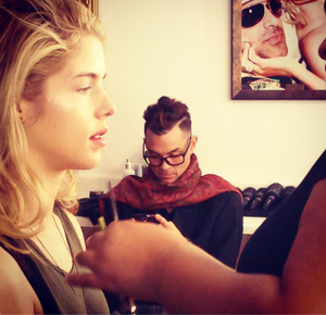 Emily Bett Rickards in LA during a shoot for startbaan, start-en landingsbaan Magazine.