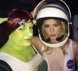 Emily attended Matthew Morrison's Halloween bash