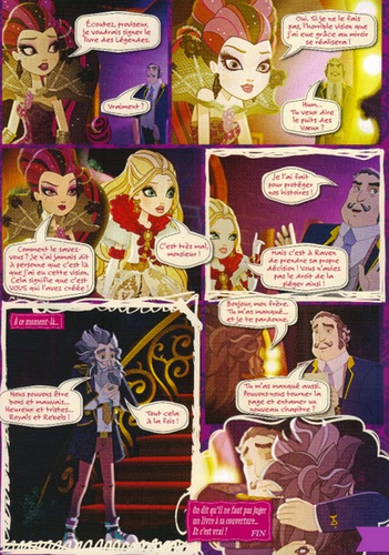 Ever After High wallpaper entitled Ever After High Thonecoming French Comic