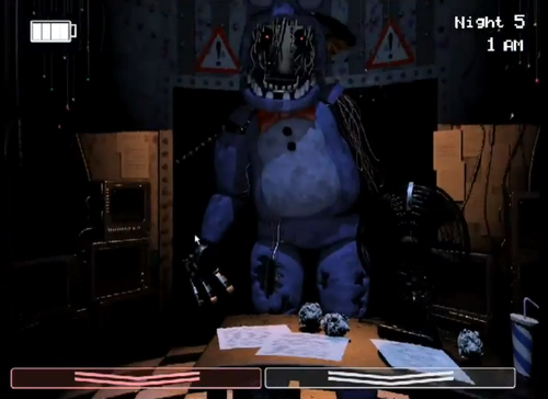 Five Nights at Freddy's fond d'écran titled FNAF 2 LEAKED SCREENSHOT (Old Bonnie)