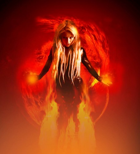 Photoshop wallpaper probably with a fire and a fire called Fiery Fire