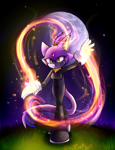 Blaze the Cat achtergrond titled brand Dancer