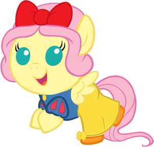 Fluttershy as Snow White