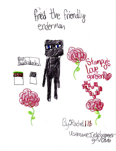 Stampylongnose wallpaper probably containing anime entitled Fred the Friendly Enderman
