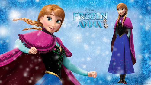 Frozen kertas dinding entitled Frozen Anna