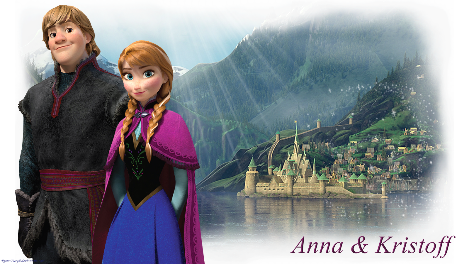 Frozen Couple - Anna and Kristoff Wallpaper (37731345 ...