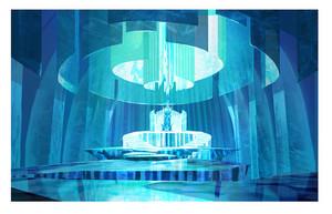 Frozen - Early Elsa's Throne Room Concept Art