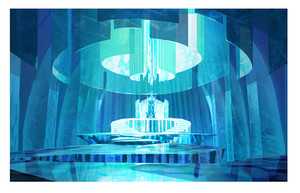 Frozen - Early Elsa's takhta Room Concept Art