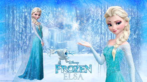 Disney Princess kertas dinding probably containing a mata air, air pancut called Frozen Elsa