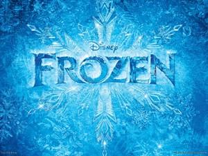 Frozen Logo پیپر وال