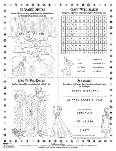 Princess Anna kertas dinding titled Frozen Sing-along Activity Sheet
