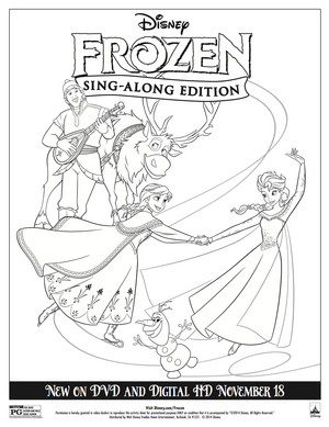 Frozen Sing-along Coloring Sheet