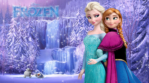 Frozen wallpaper probably with a hot tub, a koktil, koktail dress, and a makan malam dress entitled Frozen Sisters