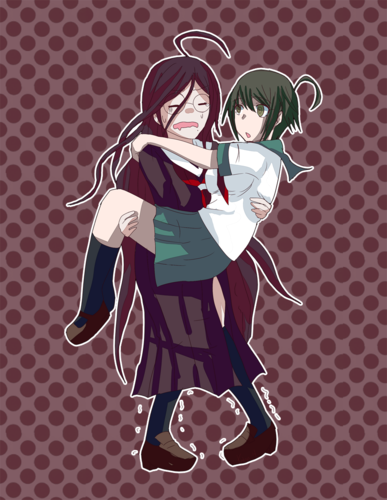 Dangan Ronpa वॉलपेपर titled Fukawa and Komaru
