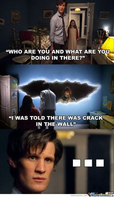 Funny crack in the wall meme