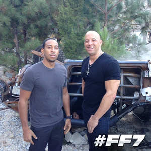 Furious 7 - Behind the Scenes - Ludacris and Vin Diesel