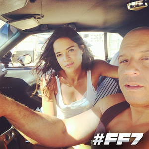 Furious 7 - Behind the Scenes - Michelle Rodriguez and Vin Diesel