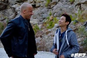 Furious 7 - Behind the Scenes - Vin Diesel and James Wan