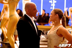 Furious 7 - Behind the Scenes - Vin Diesel and Ronda Rousey