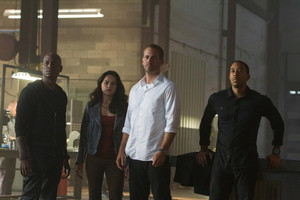 Furious 7 - Rome, Letty, Brian and Tej
