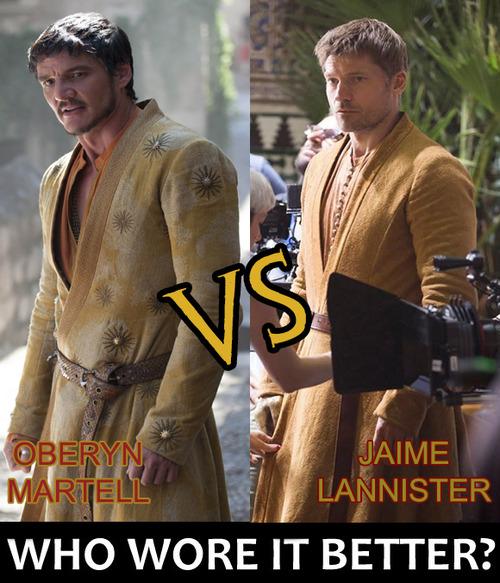 Jaime Lannister & Oberyn Martell