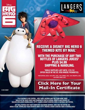 Get a Baymax cerf-volant (with purchase)