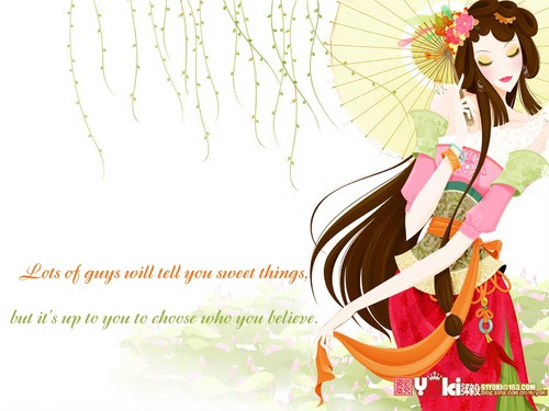 Quotes wallpaper probably containing a bouquet and a parasol entitled Girls quotes