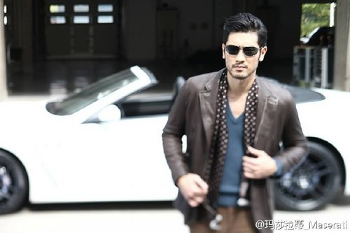 Godfrey Gao achtergrond with sunglasses called Godfrey for Maserati