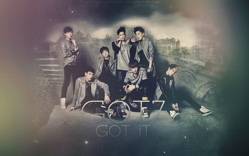 GOT7 wallpaper probably with a bicycling, a fountain, and a bicycle titled Got 7 wallpaper❤ ❥