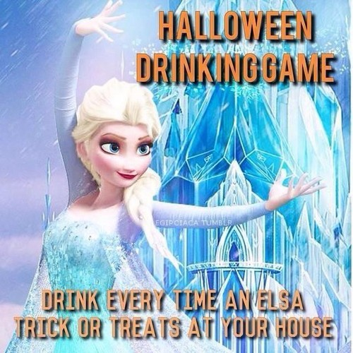 Disney Princess wallpaper entitled Halloween Drinking Game
