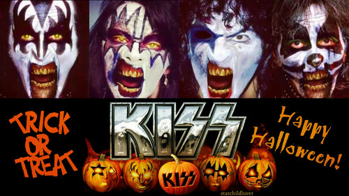 KISS wallpaper probably with anime titled Happy Halloween....Zombie KISS style