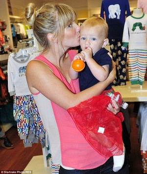 Heather and baby Elijah