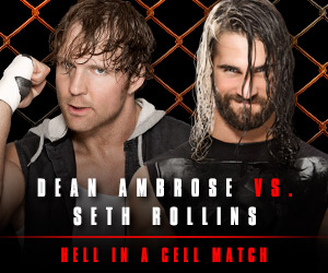 WWE wallpaper with a chainlink fence called Hell in a Cell 2014 - Dean Ambrose vs Seth Rollins