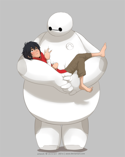 Big Hero 6 Hintergrund entitled Hiro and Baymax