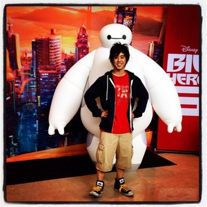 Hiro and Baymax from Big Hero 6 as they will appear at Walt Disney World and Disneyland