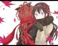 Homura and Kyoko - puella-magi-madoka-magica wallpaper