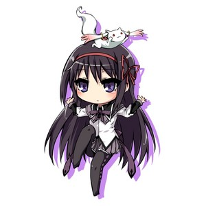 Homura and Kyubey chibi