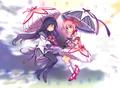 Homura and Madoka w/ umbrellas