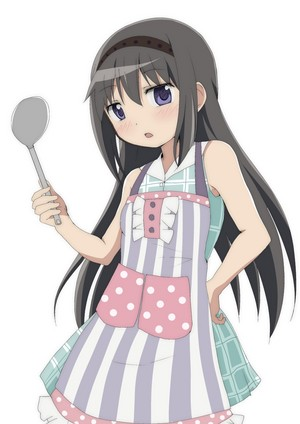 Homura with a spoon