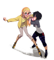 Honey limon and GoGo Tomago