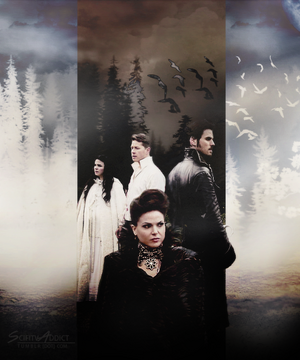 Hook, Regina, Snow and Charming